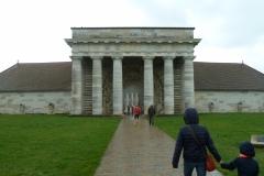 L'entrée des Salines Royale à Arc et Senans