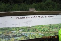 La table d'orientation du Bec d'Allier