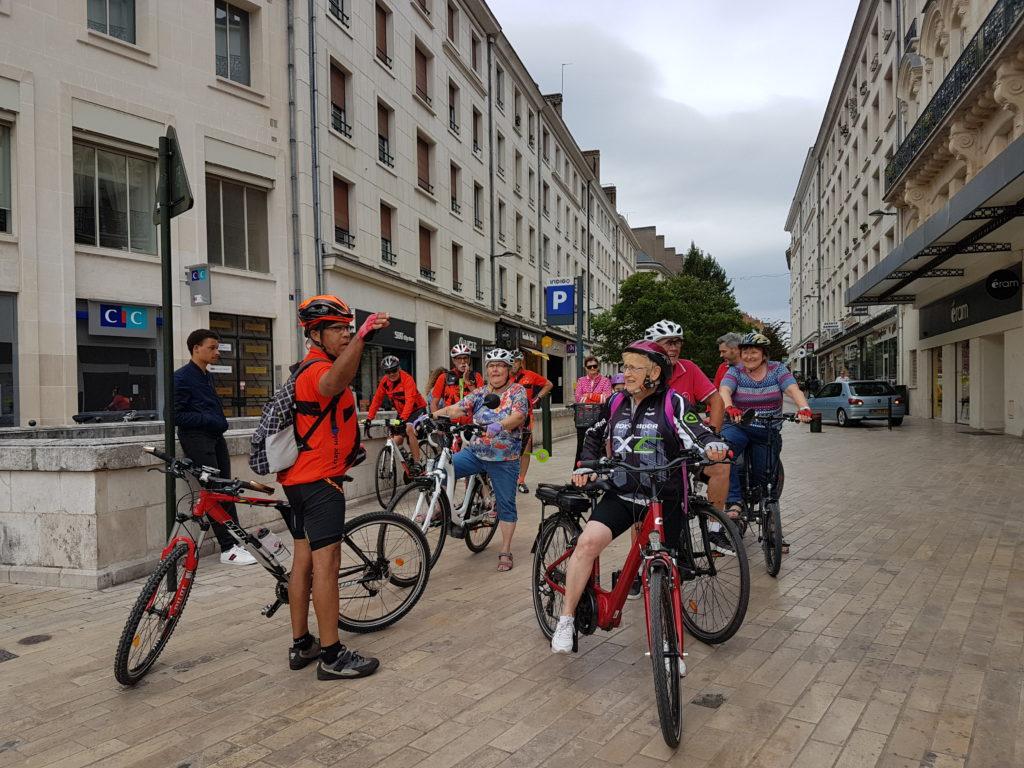 A vélo au centre ville