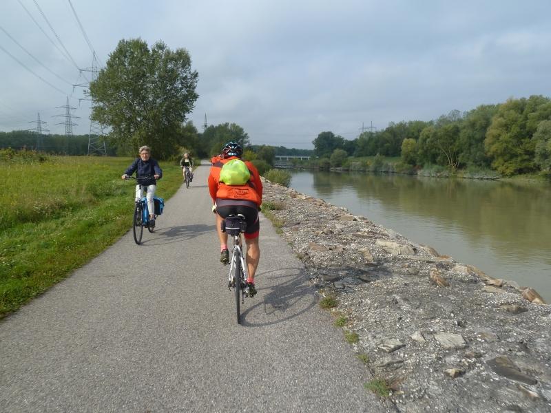 N4 Croisement avec des cyclistes