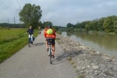 Croisement avec des cyclistes