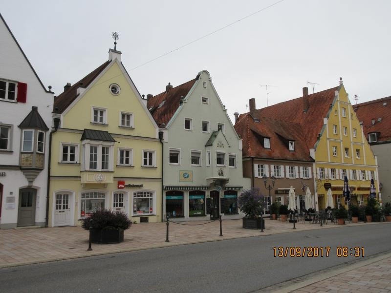 T2 Façade des immeubles à Donauwörth