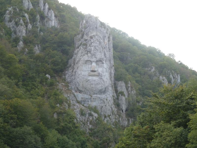 E2 la statue de Decebal à Dubova